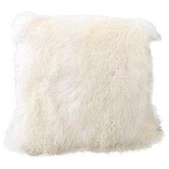 "21st Century ""Mongolian"" Fur Large Floor Pillow 32"" Square"