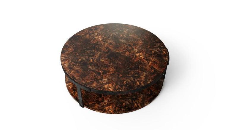 Portuguese 21st Century Monticello Center Table Walnut Wood For Sale