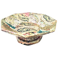 21st Century Monumental Footed Wood Papier Mâché Center Bowl