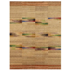21st Century Navajo-Sand Colorful Geometric Handmade Wool Rug