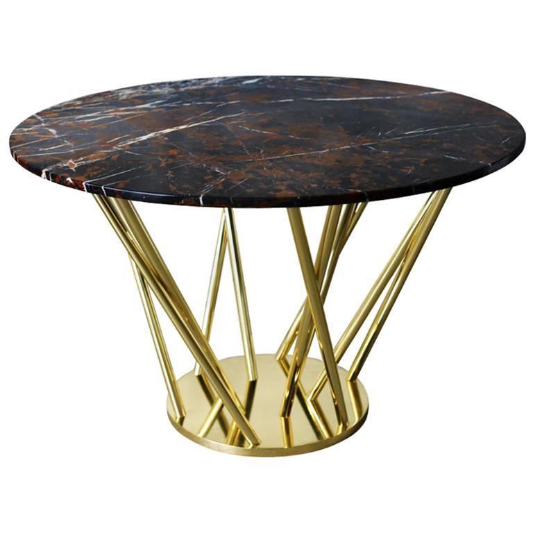 21st Century Nebula Dining Table Polished Marble