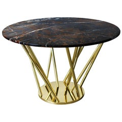 21st Century Nebula Dining Table Polished Marble
