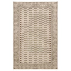 21st Century Needle Point Handmade Wool Rug by Arthur Dunnam in Beige, and Green