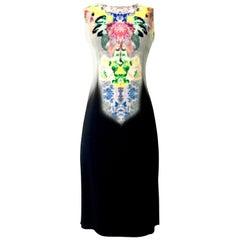 21st Century New Italian Etro Print Fade Sheath Dress - Size 6