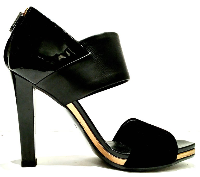 21st Century & New Italian Leather Platform Sandals By, Gucci 3