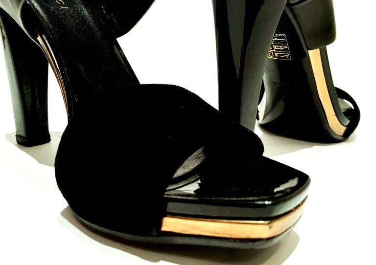 21st Century & New Italian Leather Platform Sandals By, Gucci 2