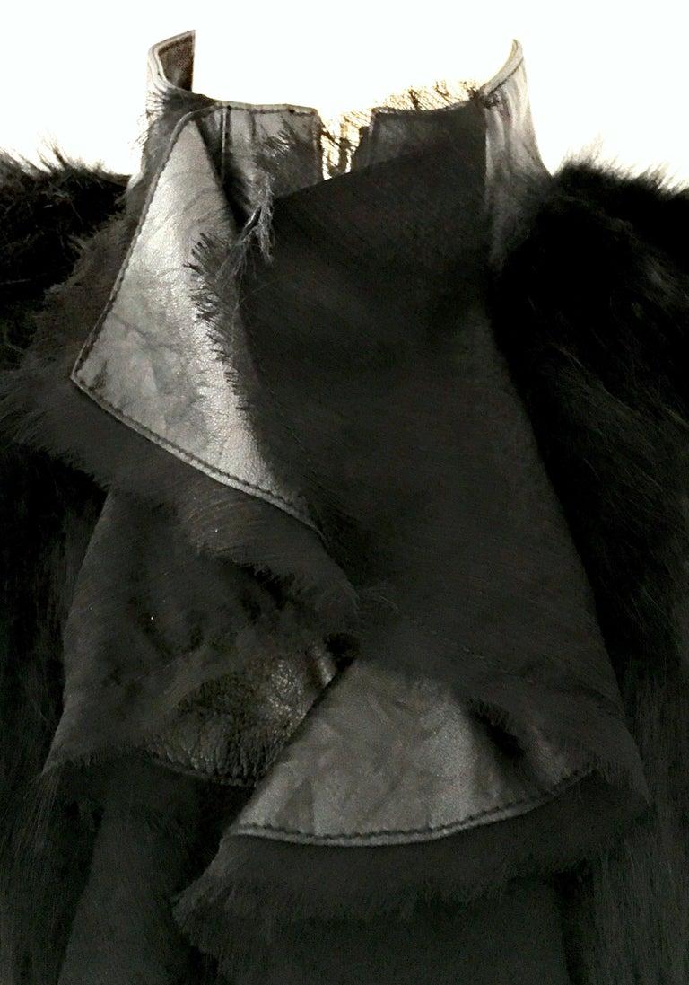 21st Century & New Leather Fox & Lace Shirt Jacket By, Royal Underground 6