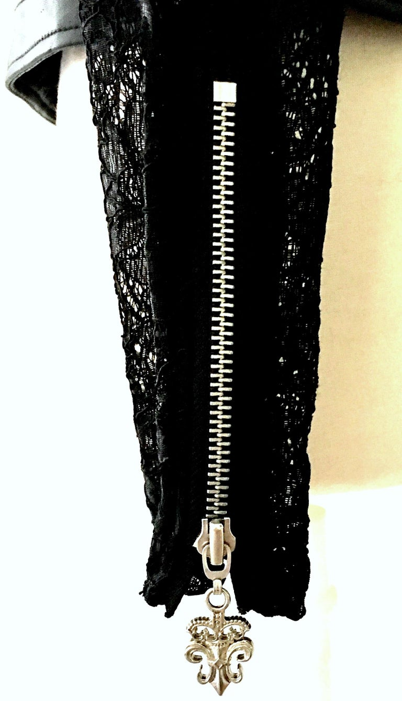 21st Century & New Leather Fox & Lace Shirt Jacket By, Royal Underground 7