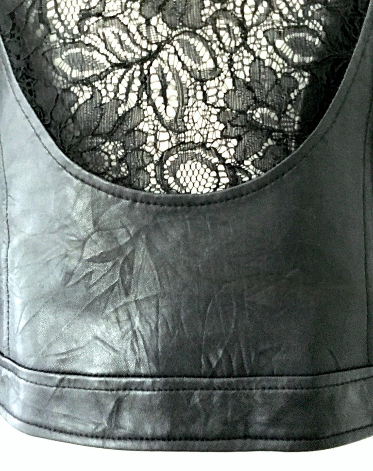 21st Century & New Leather Fox & Lace Shirt Jacket By, Royal Underground 8