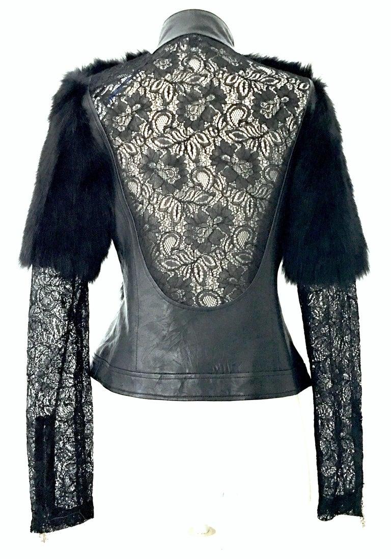21st Century & New Leather Fox & Lace Shirt Jacket By, Royal Underground 1