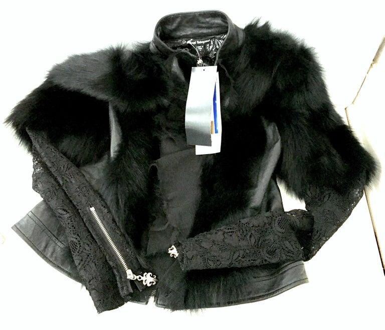 21st Century & New Leather Fox & Lace Shirt Jacket By, Royal Underground 2