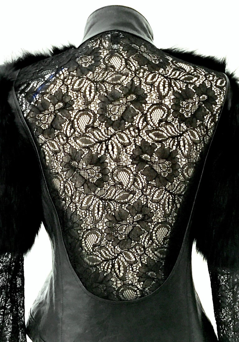 21st Century & New Leather Fox & Lace Shirt Jacket By, Royal Underground 3