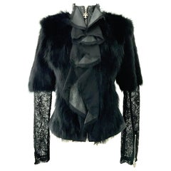 21st Century & New Leather Fox & Lace Shirt Jacket By, Royal Underground