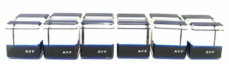 21st century & new blue Lucite place card holders by, Alexandra Von Furstenberg