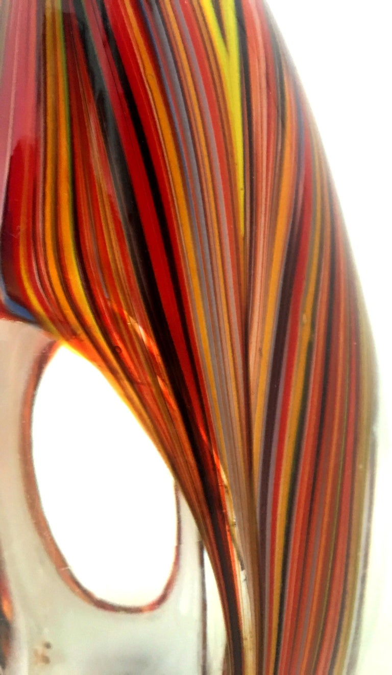 21st Century and New Missoni Modern Optical Striped Blown Glass Vase 4