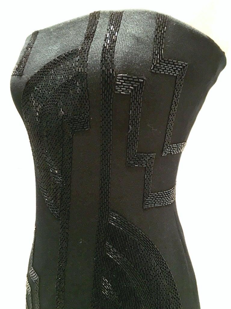 21st Century & New Silk Knit Beaded Strapless Cocktail Dress By, Ralph Lauren 5