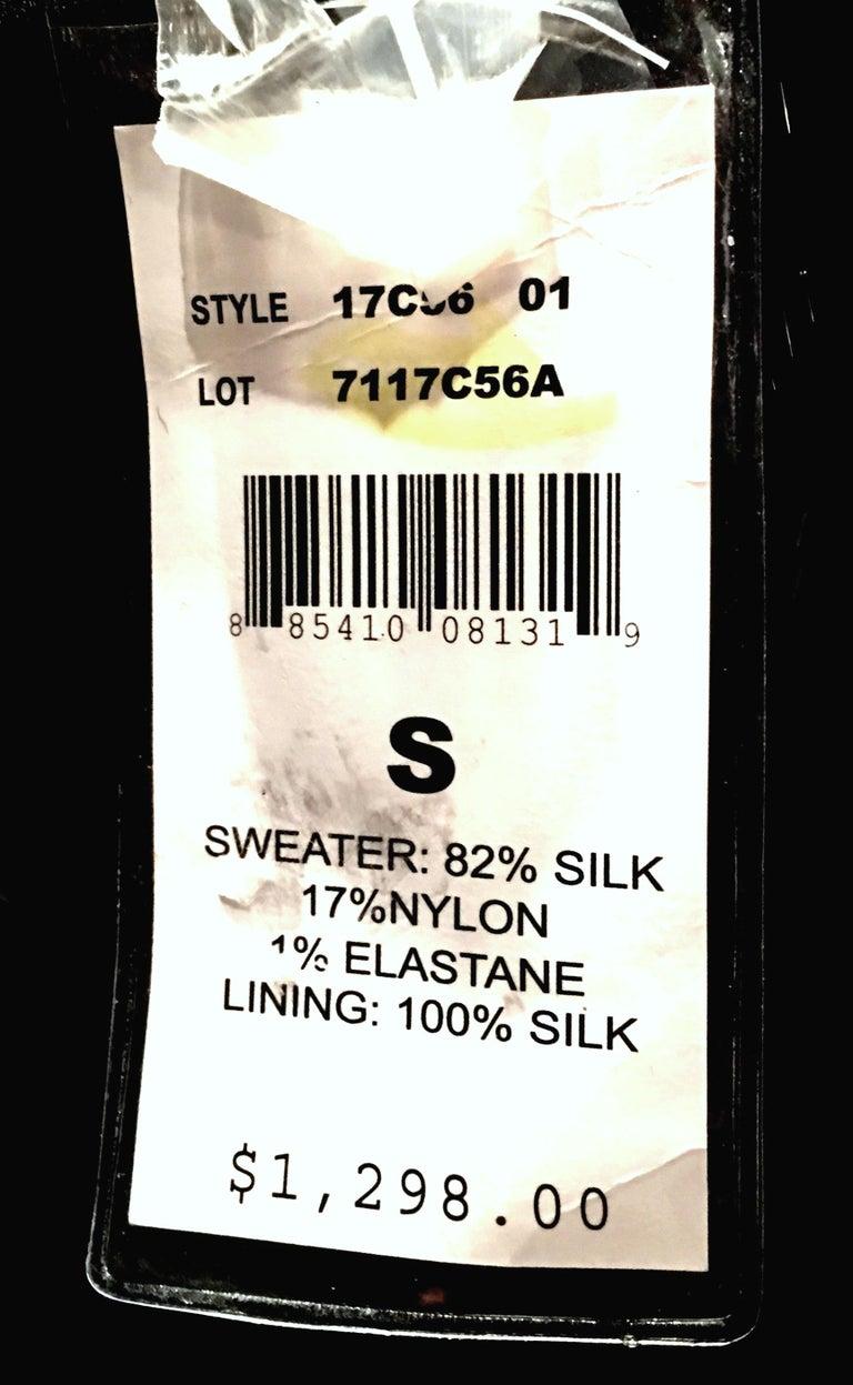 21st Century & New Silk Knit Beaded Strapless Cocktail Dress By, Ralph Lauren 13