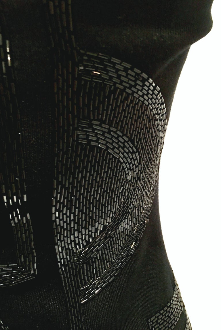 21st Century & New Silk Knit Beaded Strapless Cocktail Dress By, Ralph Lauren 10