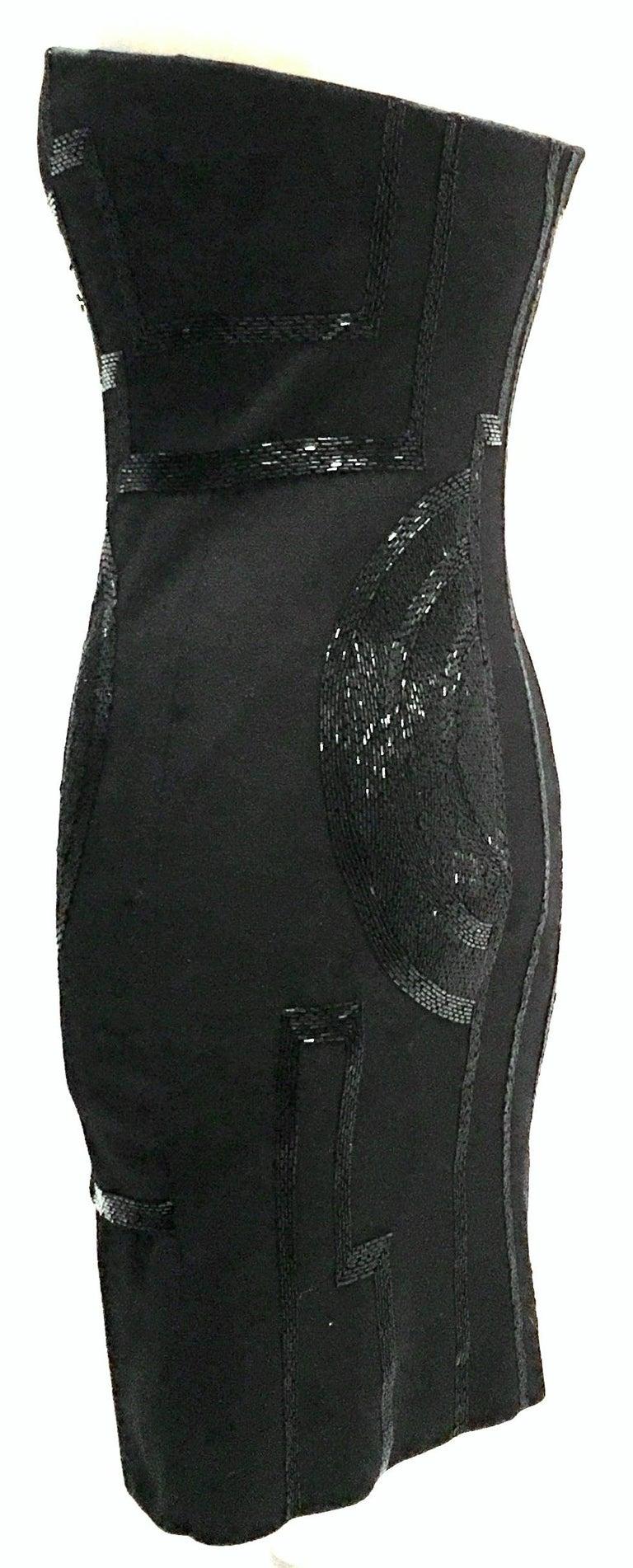 Women's 21st Century & New Silk Knit Beaded Strapless Cocktail Dress By, Ralph Lauren