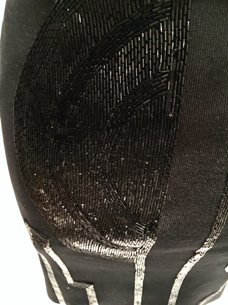 21st Century & New Silk Knit Beaded Strapless Cocktail Dress By, Ralph Lauren 8