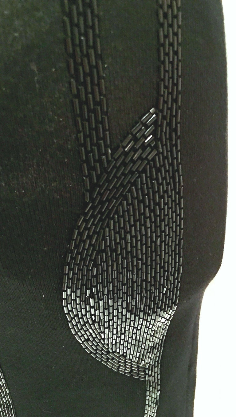 21st Century & New Silk Knit Beaded Strapless Cocktail Dress By, Ralph Lauren 9