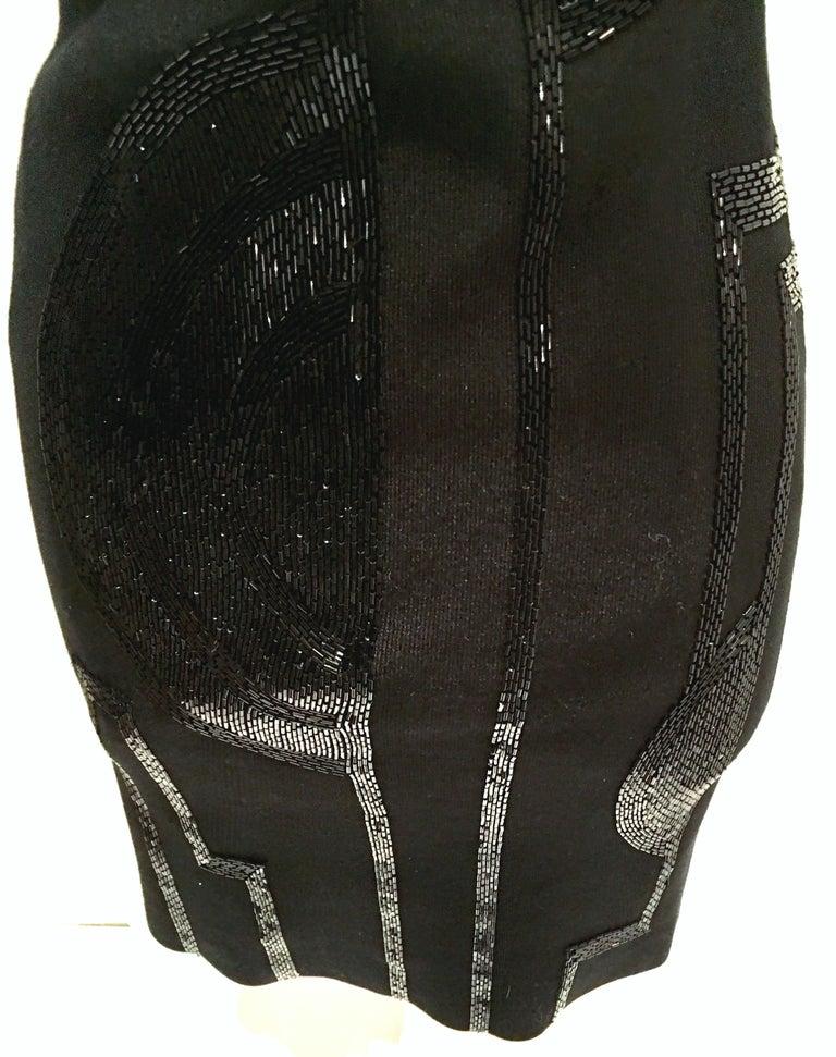 21st Century & New Silk Knit Beaded Strapless Cocktail Dress By, Ralph Lauren 7