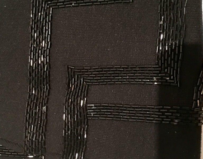 21st Century & New Silk Knit Beaded Strapless Cocktail Dress By, Ralph Lauren 11