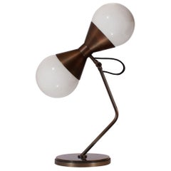 21st Century NoMad Table Lamp Brass Glass