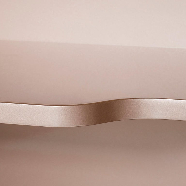 21st Century Olival Sideboard Pink Onyx Rose Gold Lacquering Brushed Copper For Sale 2
