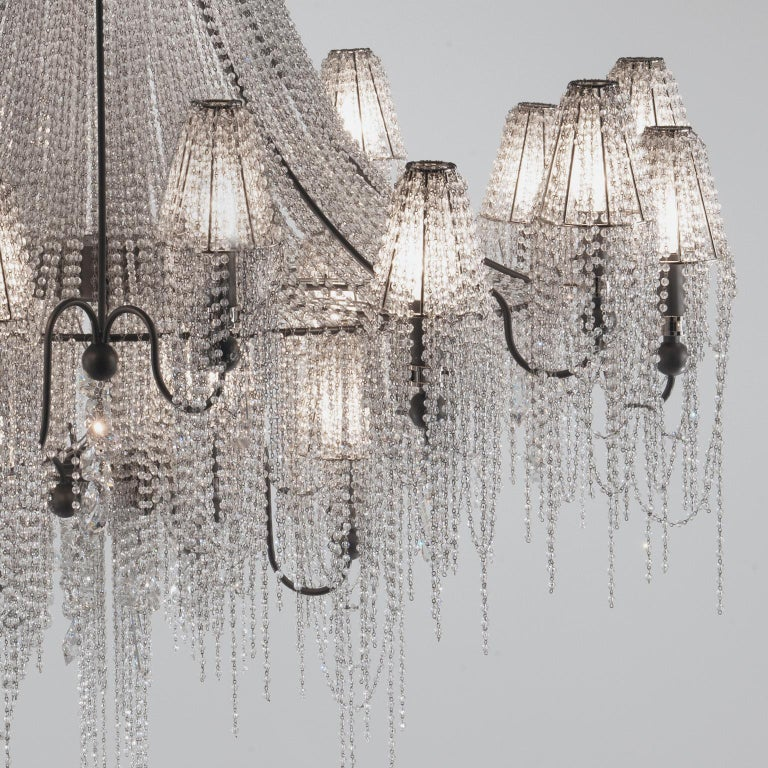 Modern 21st Century on the Rocks 24 Lights Crystal Chandelier by Patrizia Garganti For Sale
