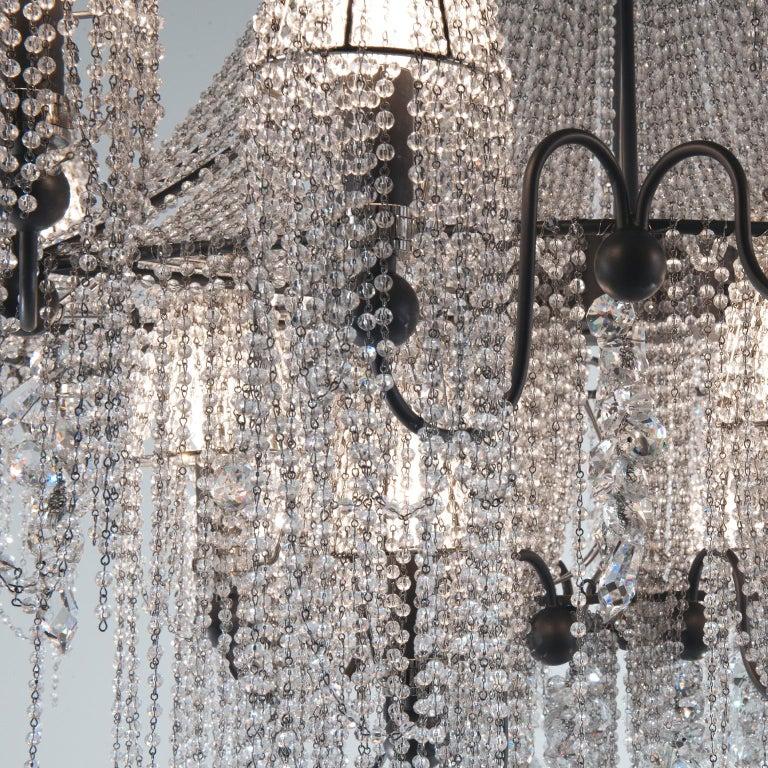 Italian 21st Century on the Rocks 24 Lights Crystal Chandelier by Patrizia Garganti For Sale