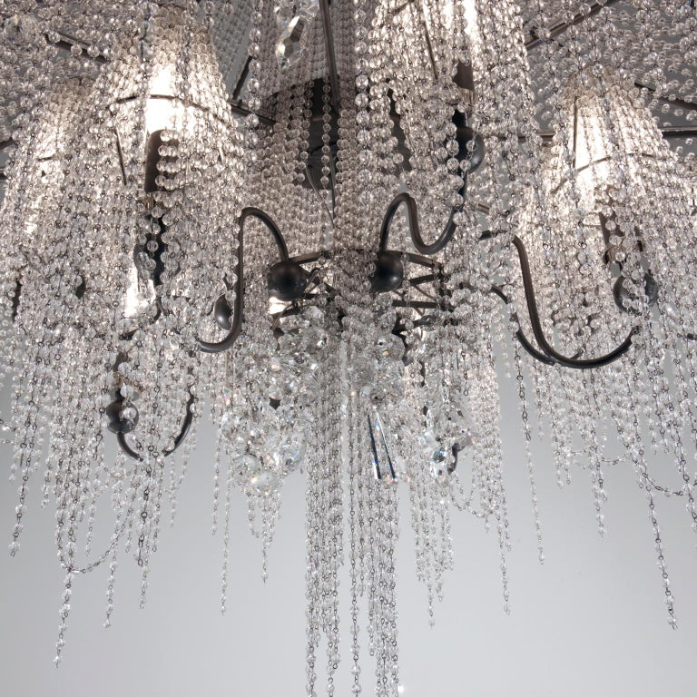 21st Century on the Rocks 24 Lights Crystal Chandelier by Patrizia Garganti In New Condition For Sale In Sesto Fiorentino, IT