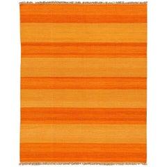 21st Century Orange Kilim Carpet