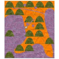 21st Century Orange Violet Green Mauro Lovi Italica Sintesi Olivia Toscani's Art