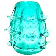 """21st Century Organic Modern Murano Style """"Urchin"""" Art Glass Vase"""