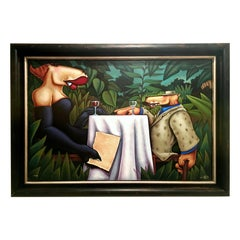 "21st Century Original Serigraph on Panel ""Last Known Journal Entry"" by, Pierson"