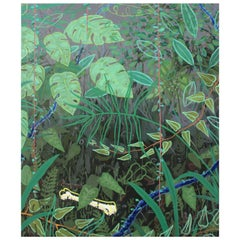 "Modern ""Osso"", Bone in Jungle Painting by Marcantonio, Acrylic on Canvas"