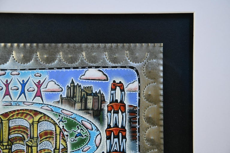21st Century Outsider Art Painting on Tin For Sale 1