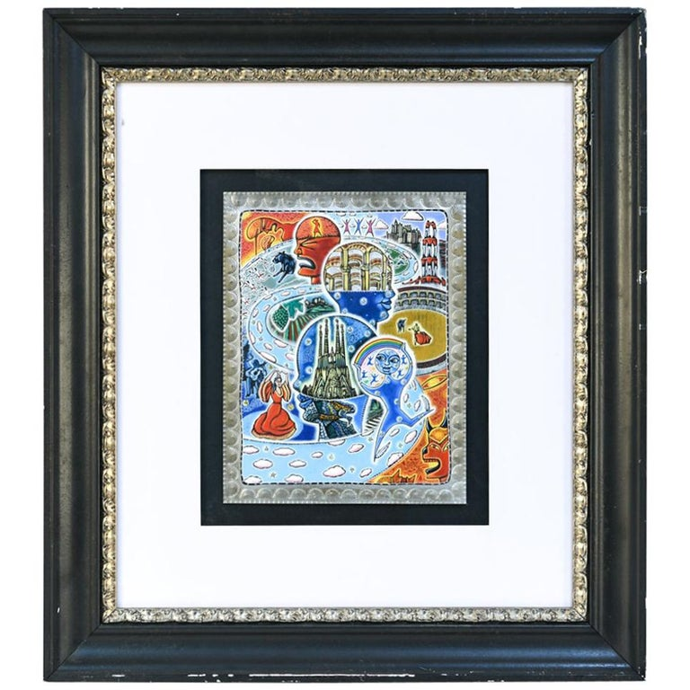21st Century Outsider Art Painting on Tin For Sale