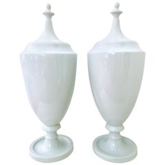 21st Century, Pair of Large Ceramic Glaze Lidded Ginger Jar's