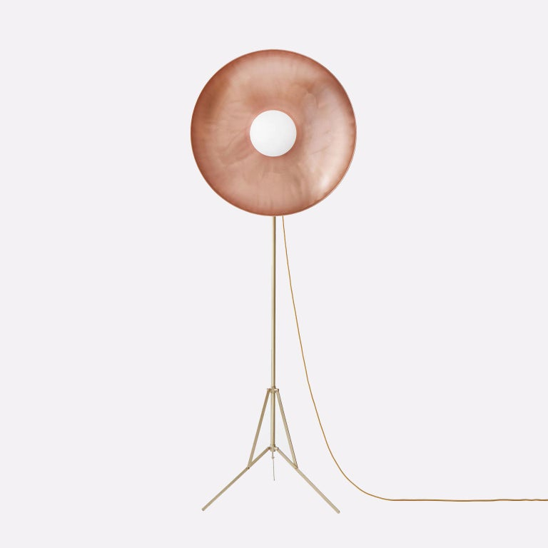 Contemporary 21st Century Parabola Copper Floor Lamp For Sale