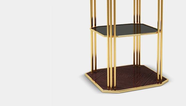 The stunning interior of the theatre is what inspired us for our paramount modern side table, a Mid-Century Modern furniture piece with some Art Deco details that will embellish any contemporary living space. The main structure of the Mid-Century