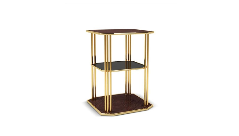 Portuguese 21st Century Paramount Side Table For Sale