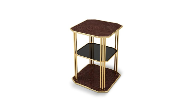 Varnished 21st Century Paramount Side Table For Sale