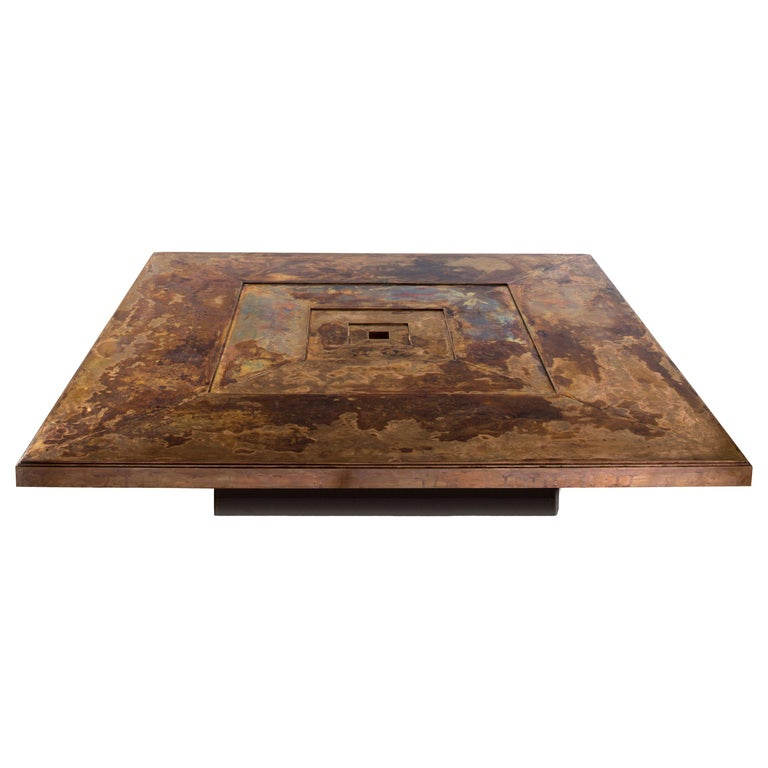 21st Century Patinated Bronze Timeless Coffee Table For Sale