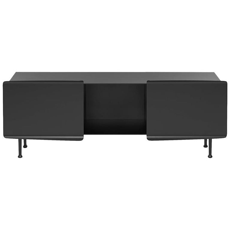 "21st Century FUCINA  ""356"" by Pauline Deltour Low Sideboard Black Metal For Sale"