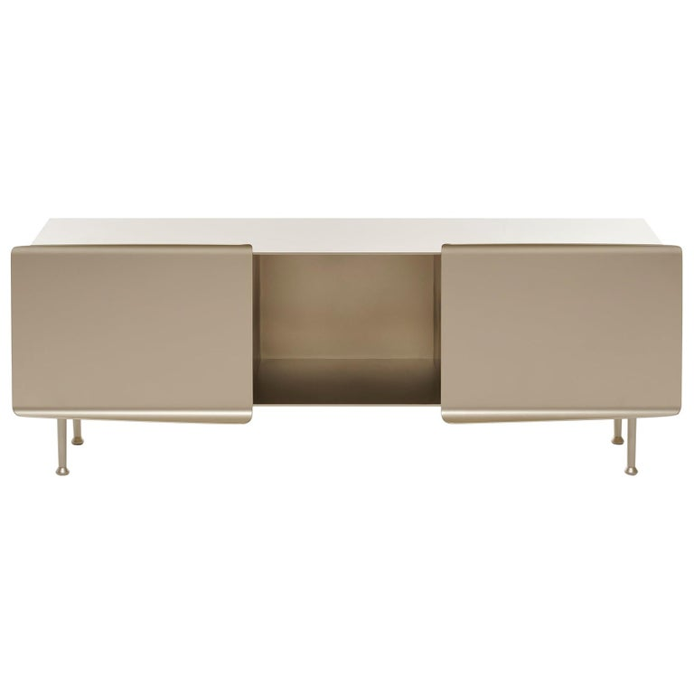 """21st Century FUCINA Pauline Deltour """"356"""" Low Sideboard Champagne For Sale"""