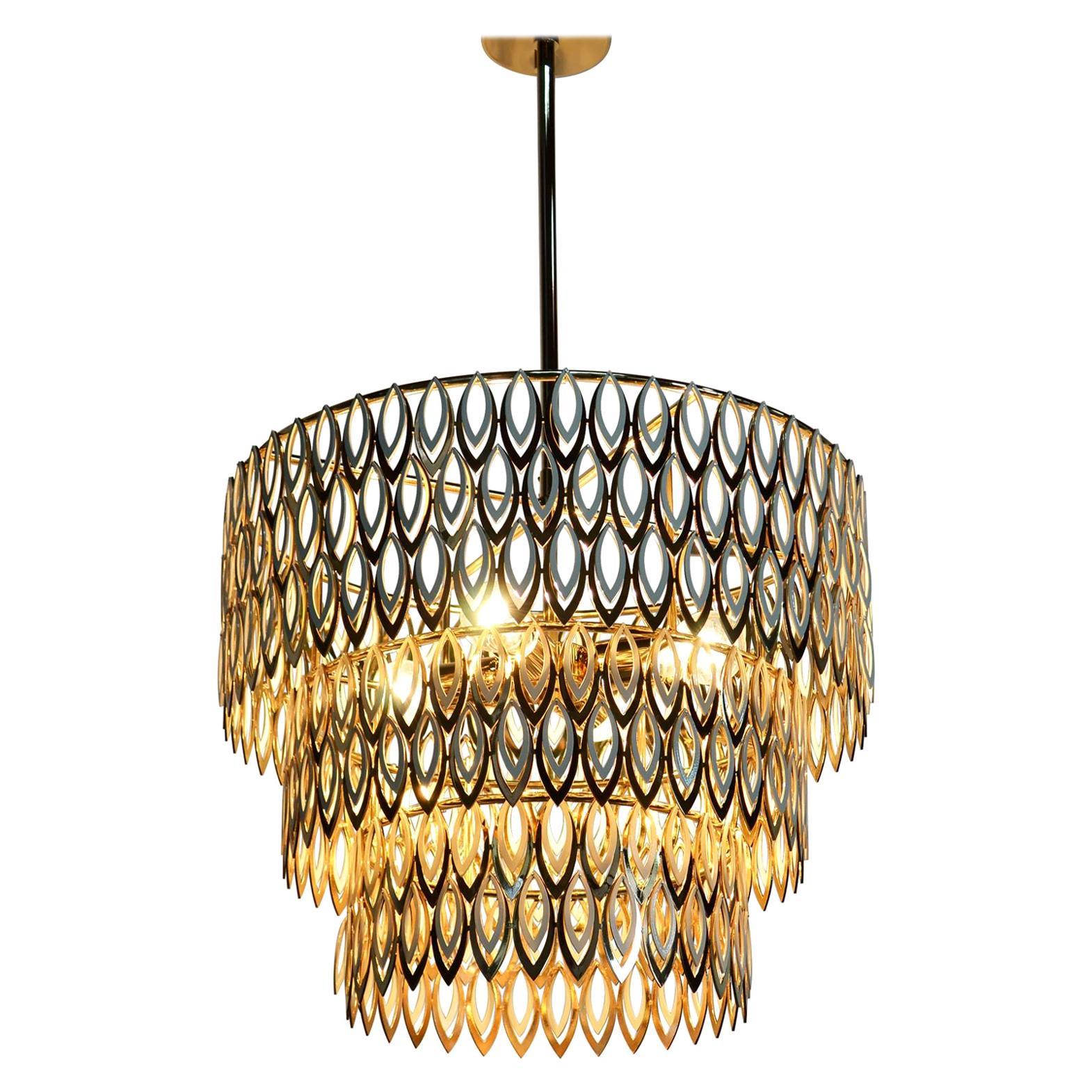 21st Century Petal Suspension Lamp Stainless Steel