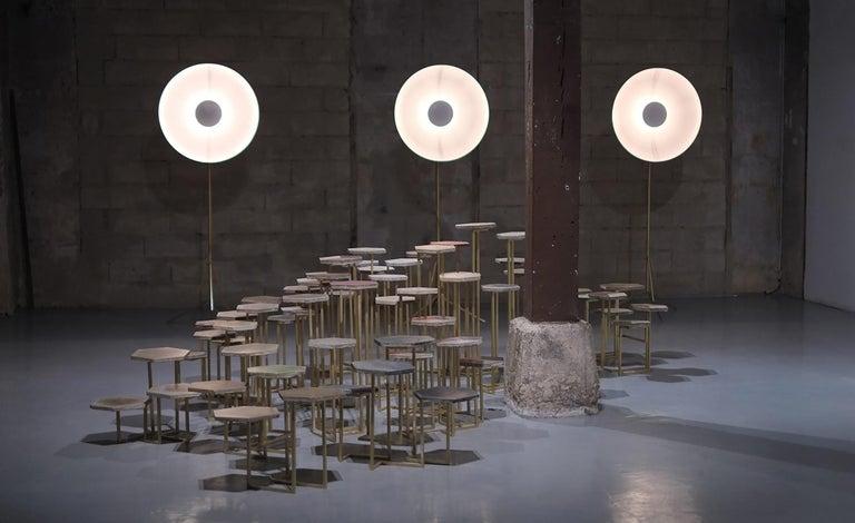 21st Century Petit Table de Milàn Side Table with Brass Base For Sale 1