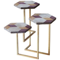 21st Century Petit Table de Milàn Side Table with Brass Base